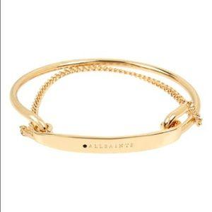 All Saints Chain Logo Bangle Bracelet